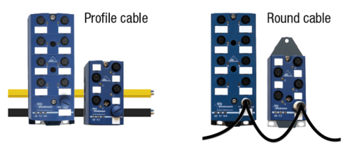 [Translate to Italien:] Connection to AS-i with profile cable and round cable