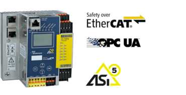 ASi-5/ASi-3 Safety over EtherCAT Gateway with integrated Safety Monitor