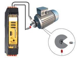 Speed monitoring with 2 sensors