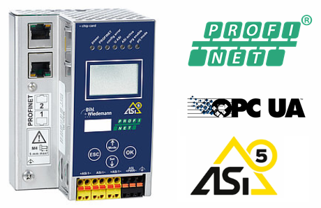 24 Volt ASi-5/ASi-3 PROFINET Gateway in Stainless Steel