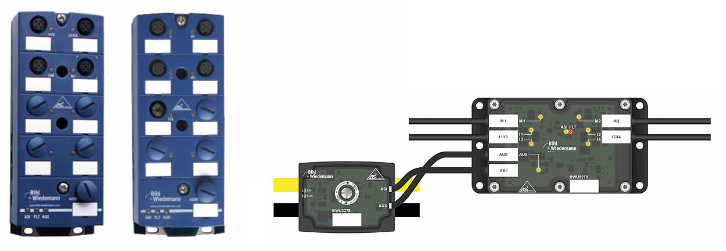 AS-i motor module for 24 V DC motors, with IP67 protection and optimized for cable duct